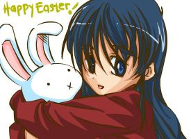 Happy Easter - Furu and Bunny by ryuuen