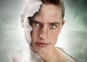 white lady by lupographics
