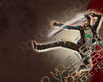 No more Heroes 2 Wallpaper by HylianDragonCatty