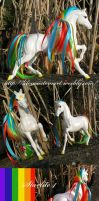 Starlite 4 , Rainbow brite custom Barbie Horse by Lilou-Lilou