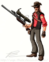 Red Sniper (High Contrast) by Vega-Three