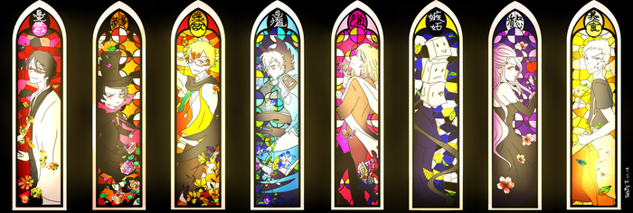 All 8 Servamps - Stained Glass edition by sakurasaki0221