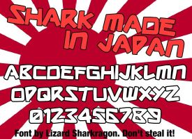 Font - Shark Made In Japan by TheSharkGuy