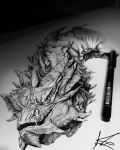 Smaug (For my naneth) by LoveChristi-Chan