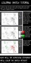 Simple Photohsop Sketch coloring tutorial by ShoyzzFanArt