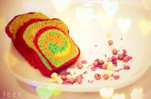 Mini rainbow toast ... by aoao2