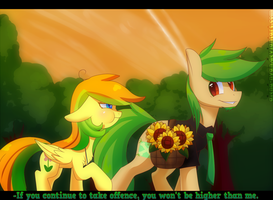[MLP] [OCs] Lazy Bones and SunFlower Summer. by AlenD-nyan