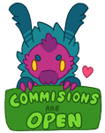 Commissions - (Open) Button by MGMaguire