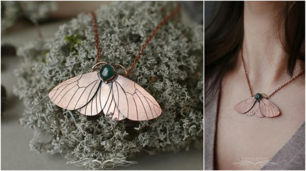 Pendant Moth. The Real by CreativeElfJewellery