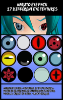 Naruto Eyes Pack by luckygirl88