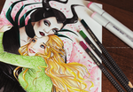 Maleficent and Aurora by KaZe-pOn
