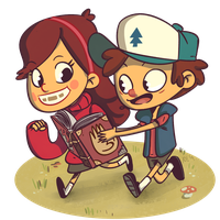 Dipper and Mabel by Exeivier