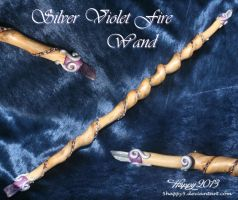 Silver Violet Fire Wand by 5Happy5