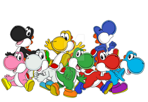 Yoshi - Group Picture by Tails19950