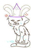 Angry Wet Kitten In A Silly Hat by mavinsay
