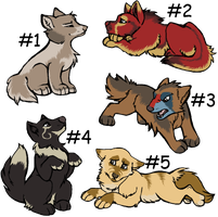 Wolf Pup Adoptables - CLOSED by Hermannmagdich