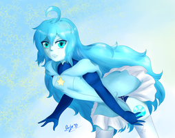 Speedpaint - Aquamarine (Steven Universe Gemsona) by TheCherryTree59