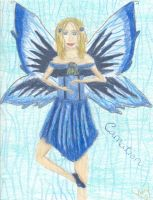 blue carnation fairy by rainofphyre