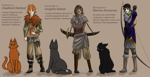 The Human Hero Trio (Medieval) by TigerMoonCat