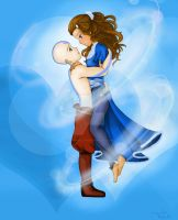 Aang and Katara by TokyoGirl-San