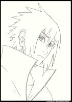 Sasuke's MS lineart by sharingandevil
