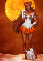 Black Sailor Venus by IsaiahStephens