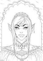 Empress Of The Leftovers / Lineart by Ryltha