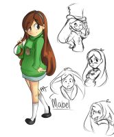 Mabel sketches by megamooni