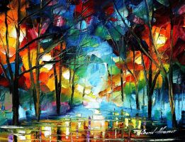 Loneliness of autumn by Leonid Afremov by Leonidafremov
