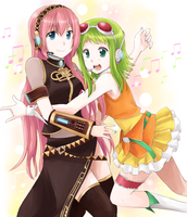 Luka and GUMI by cyoko
