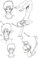 Naruto Sketches by Kapu-chan