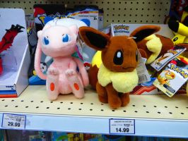 New Mew and Eevee plushes! by ryanthescooterguy