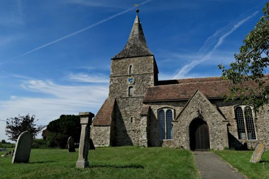 Of sky and stone (Churches of the Marsh II) by ReaderByLamplight