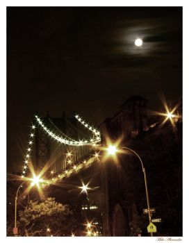 Brooklyn Bridge at night by thephotoxcore