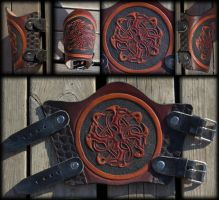 Circle of the beasts Bracer by Wodenswolf