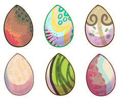 [Auction] Egg adopts! Closed! by coconuteIIa