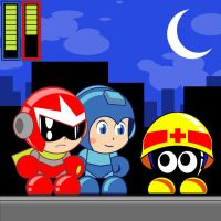 Paper Mega Man 3 by Enker