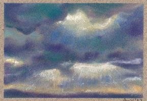 Sun Break Pastel ACEO by Angela-Vandenbogaard