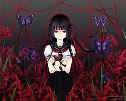 :Collab: Jigoku Shoujo by CursedBunny