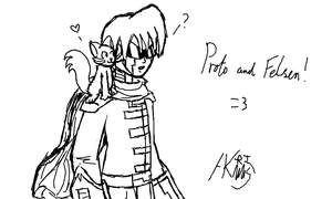 Proto and Felsen by AkariMMS