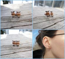 Super Nintendo SNES Goomba Earrings by Tsurera