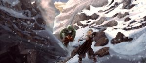 The Ranger and the Mountain Troll by HetNoodlot
