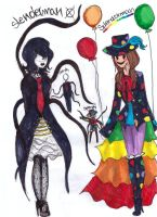 slenderman and splendorman inspired outfits by NENEBUBBLEELOVER