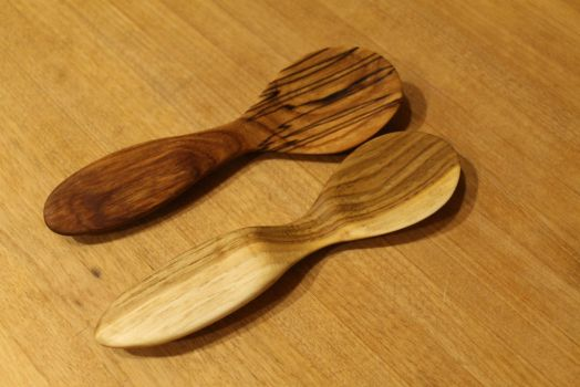 Cherry and Butternut Spoons 1 by greenspree