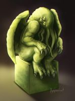 Cthulhu Statue by FlyQueen