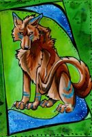 Wolf ACEO by Lucky978
