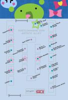 2014 PortConMaine Art Alley Map! by sakkysa