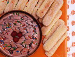 Devil Food Cake Batter Dip (3 Ingredients) by theresahelmer