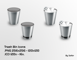 Trash Bin Icons by seifito