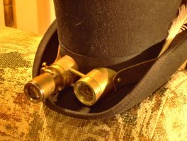 Telescopic Brass Goggles by VynetteDantes